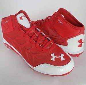 Under Armour Heater Mid ST sz 15 Red 1248197-611